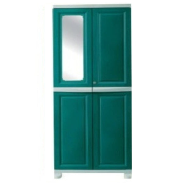 Nilkamal Freedom Big (FB1M)  Plastic Storage Cabinet With 1 Mirror(Olive Green & Pasta Green)