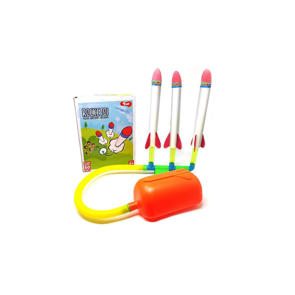 Toiing RockeToi -Triple Stomp Rocket Fun Outdoor Toy for Boys and Girls