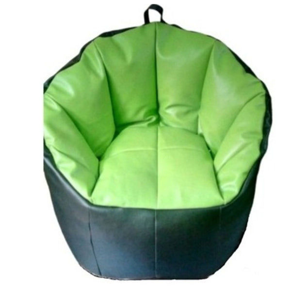 UDF Sofa Shape Bean Bag Without Beans (Black & Green)