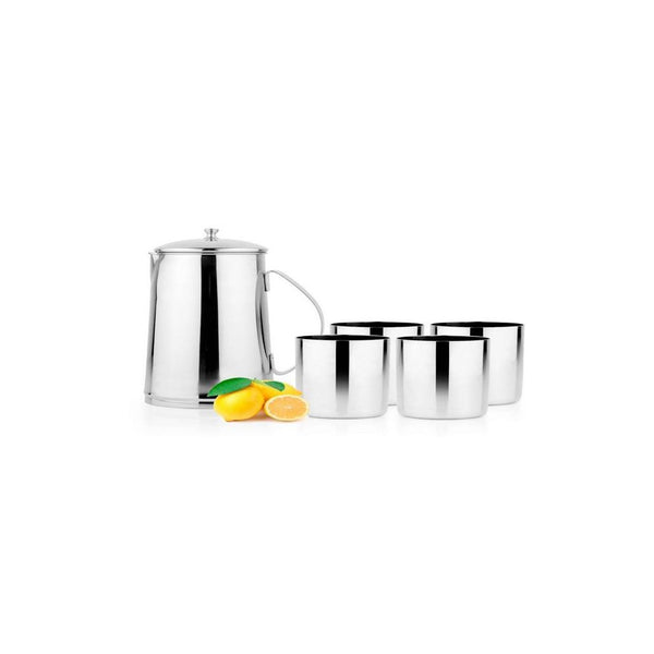 Trendz Lemon Set Jug With 4 Glasses
