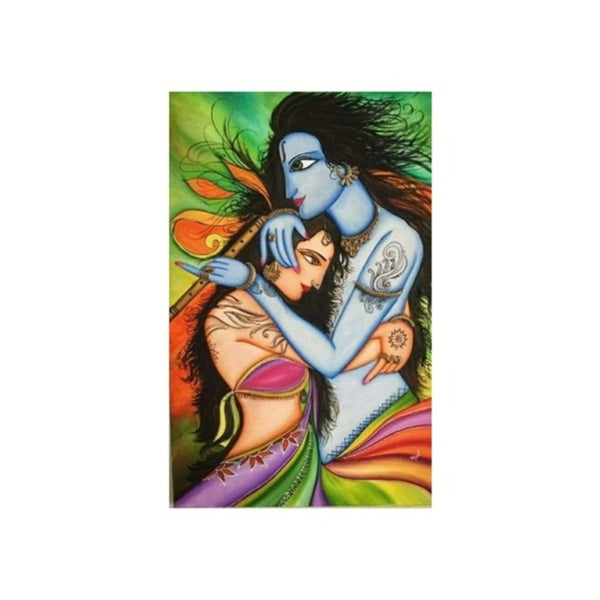 UDF 2ftx3ft Canvas oil painting Radha krishna