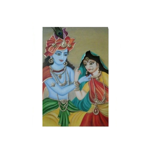 UDF 3ftx2ft Canvas oil painting Radha krishna