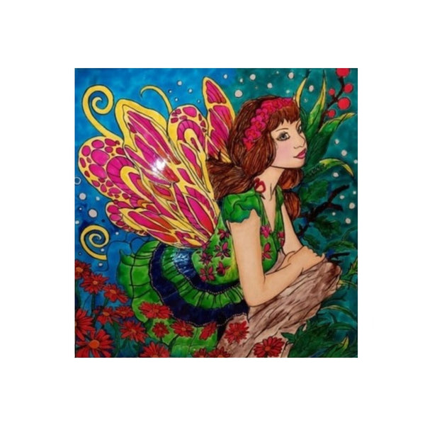 UDF 2ftx2ft Epoxy fairy painting