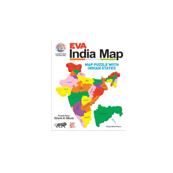 Ratnas EVA India Map Jigsaw Puzzle