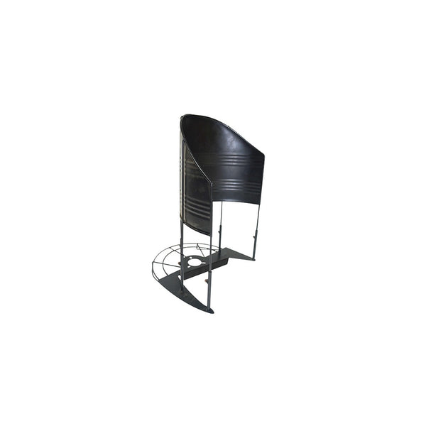 KisanKraft Baffle Paddy Rice Guard Black