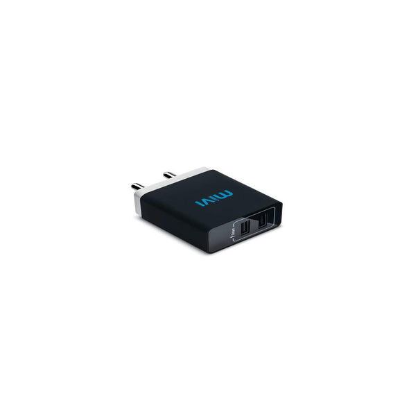 Mivi 3.1A Dual Port Smart Wall Charge Adaptor Black WC231