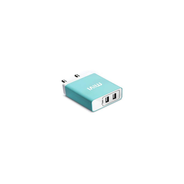 Mivi 3.1A Dual Port Smart Wall Charge Adaptor Blue WC231