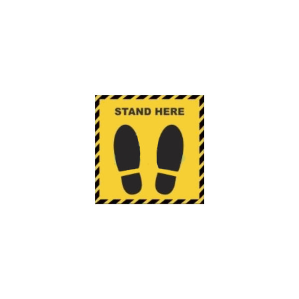 Protfolio Stand Here Square Sticker