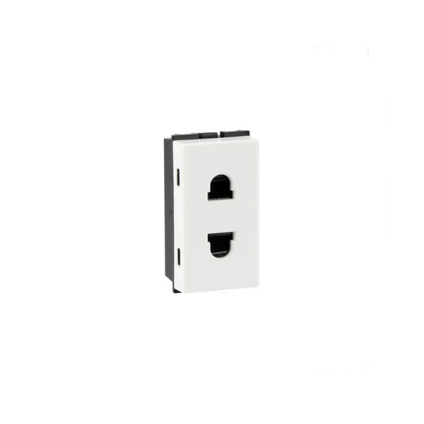 Havells Fabio 2 pin shuttered socket 6A AHFKSXW062