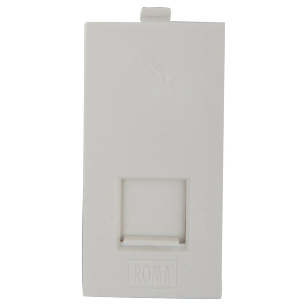 Anchor Roma Classic RJ 11 Single Telephone Jack With Shutter 20857