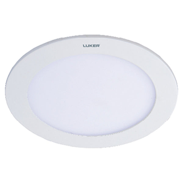 Luker Elegant Series LED Slim Panel Light 9W Round White LNPR09