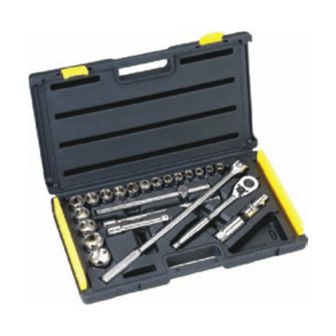 Stanley 24 Pc 1/2 Drive 6 Point Metric Socket Set – 1-86-589