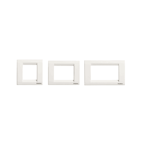 Havells Crabtree Thames Platinum Combined Cover Plates (White)