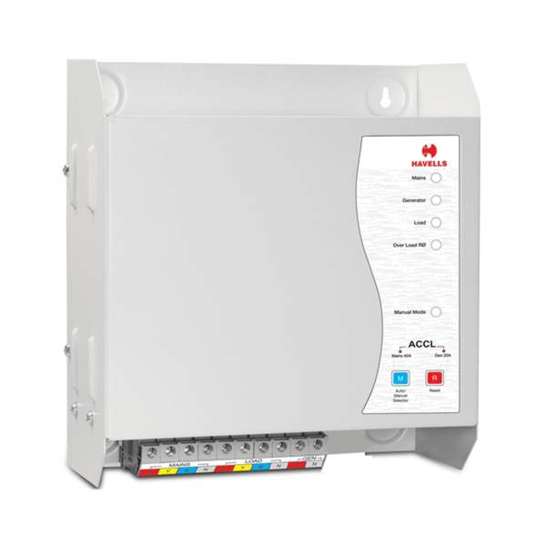 Havells TPN ACCL (TPN/SPN) (Automatic Source Changeover with Current Limiter) with GEN Start/Stop