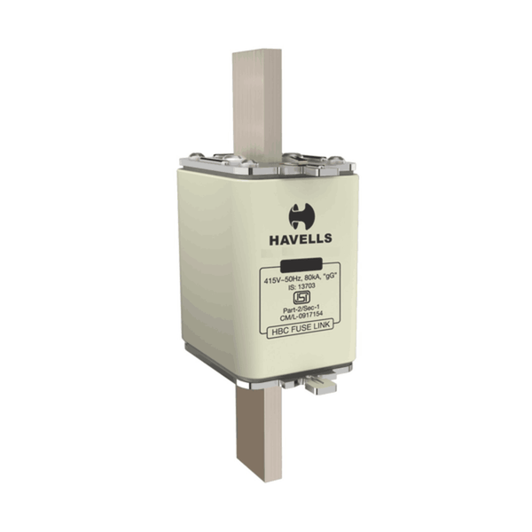 Havells Hibreak HBC Fuse Link (DIN Type) IS Size (00) 6A – 160A 415V 80kA