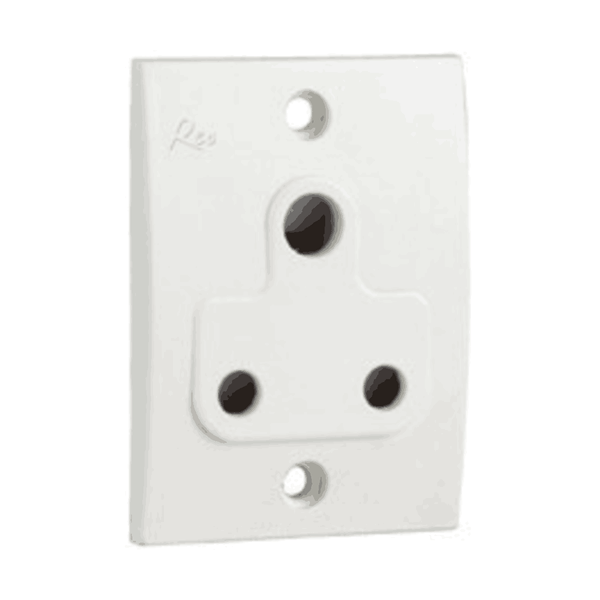 Havells Reo 6A 3 Pin Socket With Shutter - AHEKSWW063