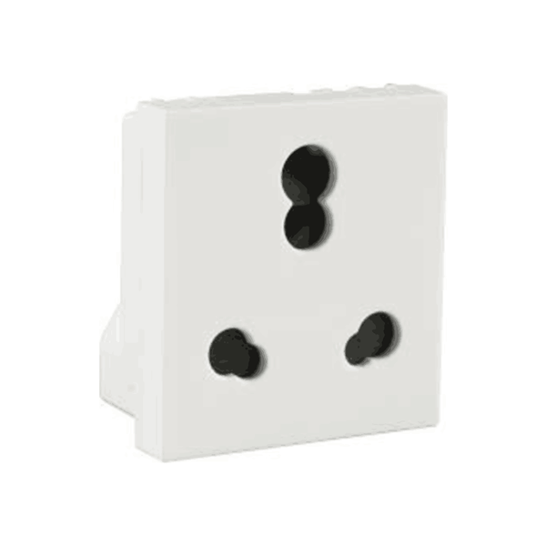 Havells Modular Oro 6 / 16A 3 Pin Combined Shuttered Socket AHOKPXW163