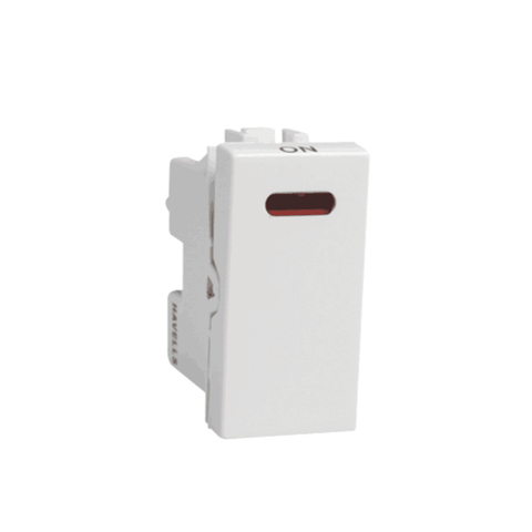 Havells Modular Coral 10Ax / 6Ax 1 Way with Indicator Switch AHCSXIW101/061