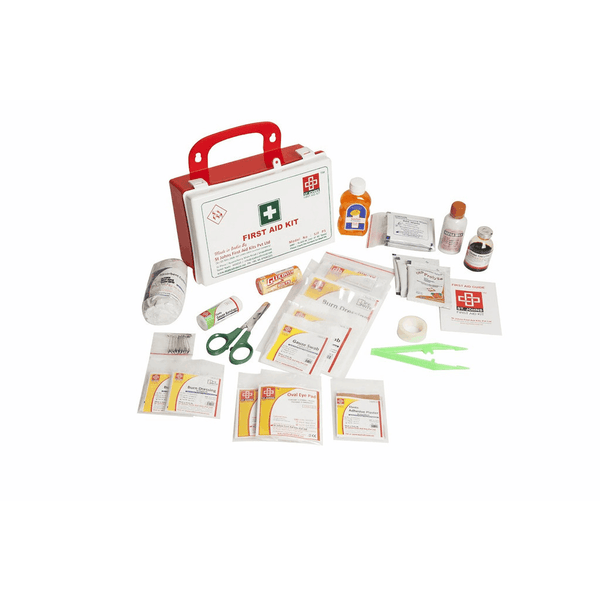 St.John's Workplace First Aid Kit Medium - Plastic Box Wall Mounted - 81 Components SJF P4
