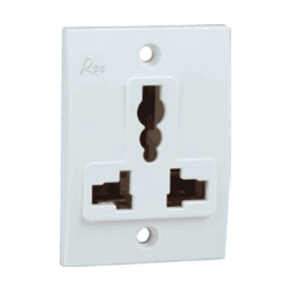 Havells Reo Universal Socket 6/13A  W/O Shutter – AHEKUXW132
