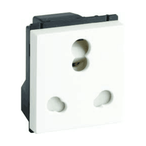 Havells Crabtree Murano 6/16A 3 Pin Combined Shuttered Socket ACMKCXW163