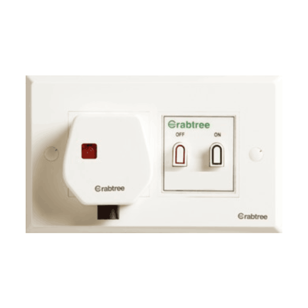 Havells Crabtree Thames 25 Amp (4 Module Plate, 25A Starter, 25A Socket, 25A Plug) ACTO252504