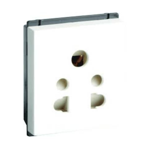 Havells Crabtree Murano 6 A 5 Pin Shuttered Socket ACMKPXW065