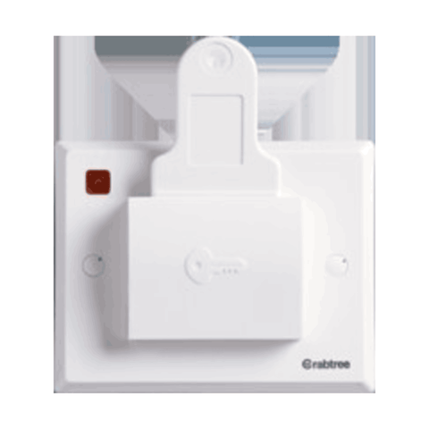 Havells Crabtree Thames 20A DP Energy Saving Switch (with Key Tag) 3M ACTSSXW201