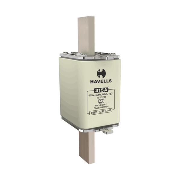 Havells Hibreak HBC Fuse Link (DIN Type) Is Size (000) 6A – 100A 415V 80kA