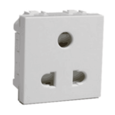 Havells Crabtree Murano 6A 3 Pin Shuttered Socket ACMKPXW063