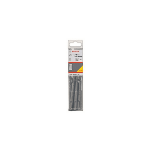 Bosch Plus 5 (S4L) SDS Plus Bits– 2608585623 (8 x 100 mm)