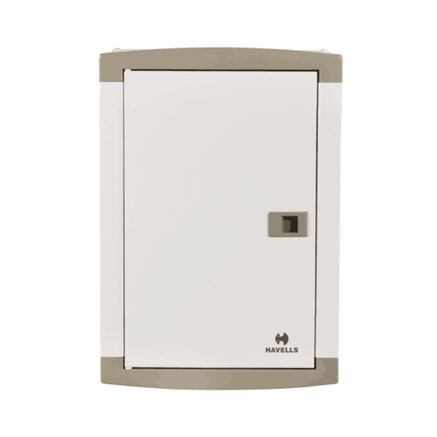 Havells TP&N (for Single Phase Outgoing) suitable for MCB / RCCB / Isolator as incomer -  Regal  Grey (DD)