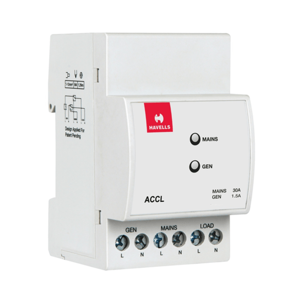 Havells 3 Module SPN ACCL  (Automatic Source Changeover with Current Limiter)