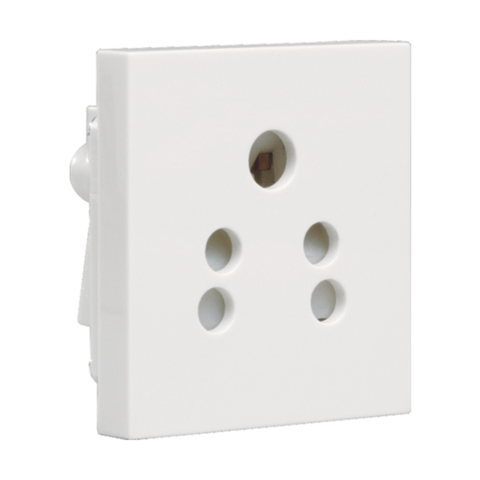 Havells Crabtree Athena 6A 5 Pin Shuttered Socket ACAKPXW065