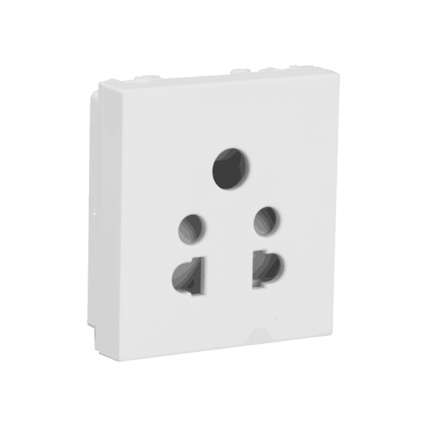 Havells Modular Oro 6A 5 Pin Shuttered Socket AHOKPXW065