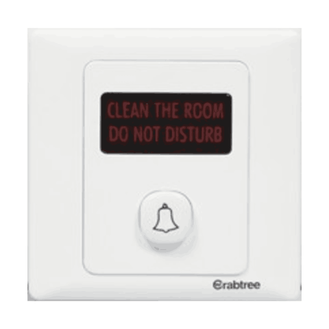 Havells Crabtree Athena Do Not Disturb & Clean My Room Bell with Indicator 2M ACAIRIW060