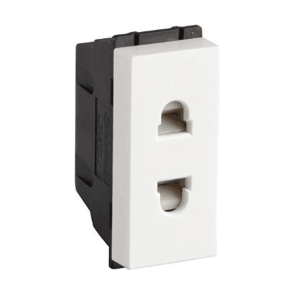 Havells Crabtree Murano 6A 2 Pin Shuttered Socket ACMKSXW062