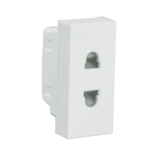 Havells Modular Oro 6A 2 Pin Shuttered Socket AHOKSXW062