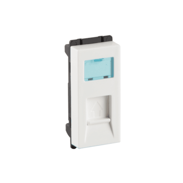 Havells Crabtree Murano RJ 11 Tel Jack with Shutter ACMKRWW111