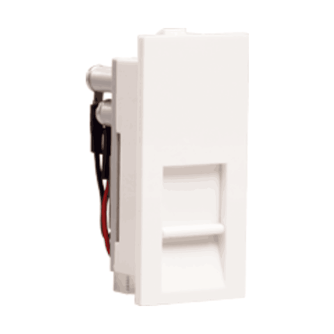 Havells Crabtree Thames RJ 11 Socket 1 Gang with Shutter ACTKRWW111