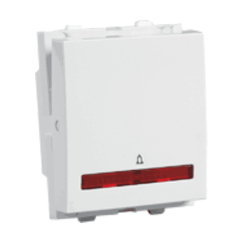 Havells Crabtree Verona 10A Mega Bell Push Switch 1 Way with Indicator ACVMBIW101