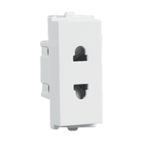 Havells Crabtree Verona 6A 2 Pin Shuttered Socket ACVKSWW062
