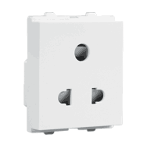 Havells Crabtree Verona 6A 3Pin Shuttered Socket ACVKSWW063