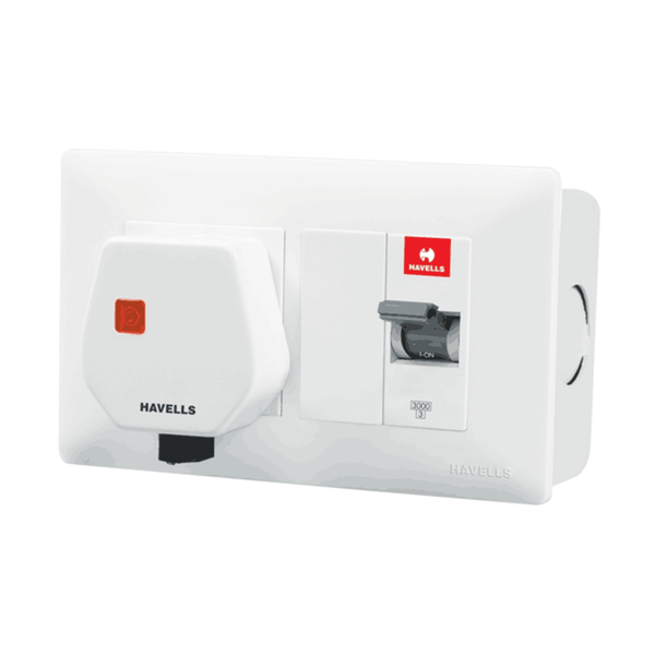 Havells DBOXx MCB Protected Socket (With Sheet Steel Enclosure)