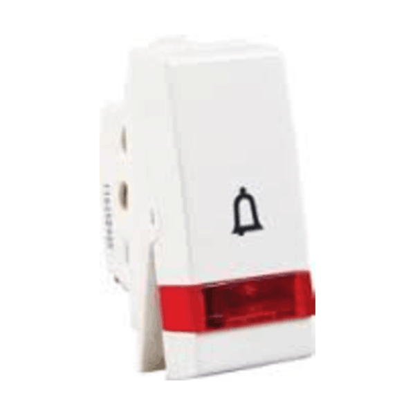 Havells Standard Irene 10AX Bell Push Switch Indicator ASISBIW100