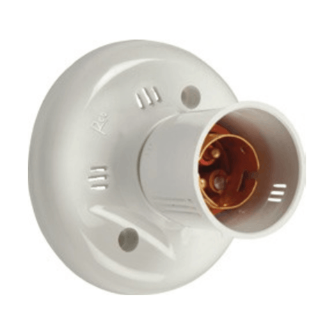 Havells Reo 6A Batten Holder (Metal Ring) - AHEHMXW000