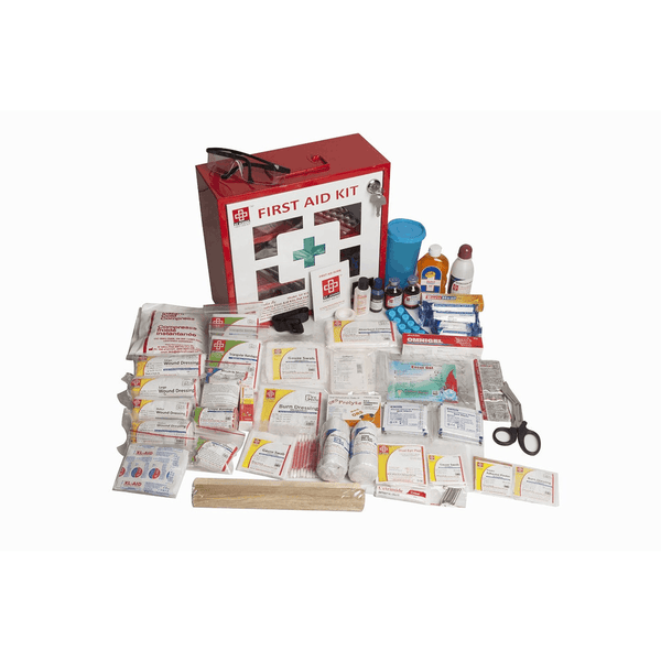 St.John's Industrial First Aid Kit Large - Metal Box Wall Counted With Acrylic Door  - 168 Components SJF M3