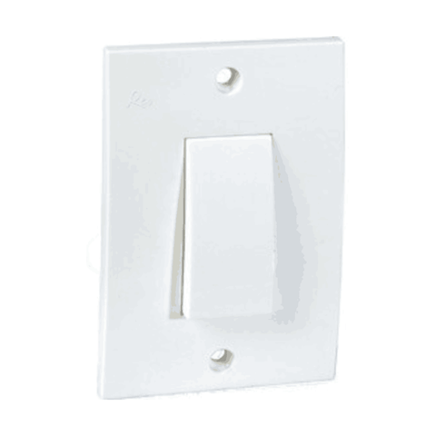 Havells Reo 16A 1Way Switch 2 Hole (Ceramic) - AHESYXW161