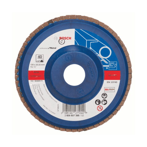 Bosch Flap Discs for Angle Grinders Straight Version Zirconia 2608607365