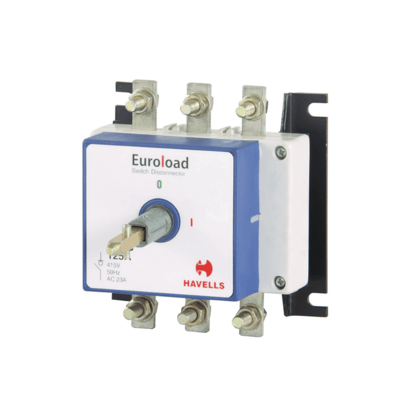 Havells Euroload Switch Disconnector Size (0) 3 Pole  SS Enclosure 80A - 200A